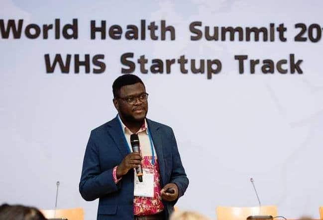 Gregory Rockson au Sommet Mondial de la Santé au mois d'Octobre 2015